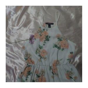 forever 21 ivory floral dress